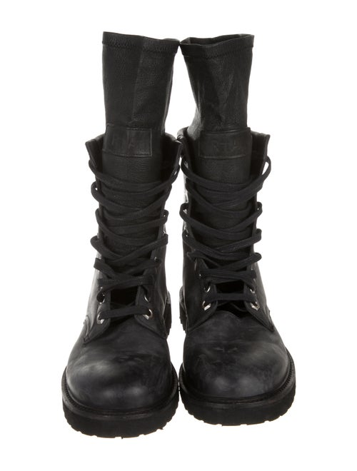 87f564e1aa2 RtA Denim Round-Toe Combat Boots - Shoes - W3Z21726 | The RealReal