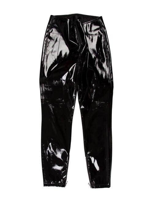 RtA Denim Mid-Rise Vinyl Pants Black