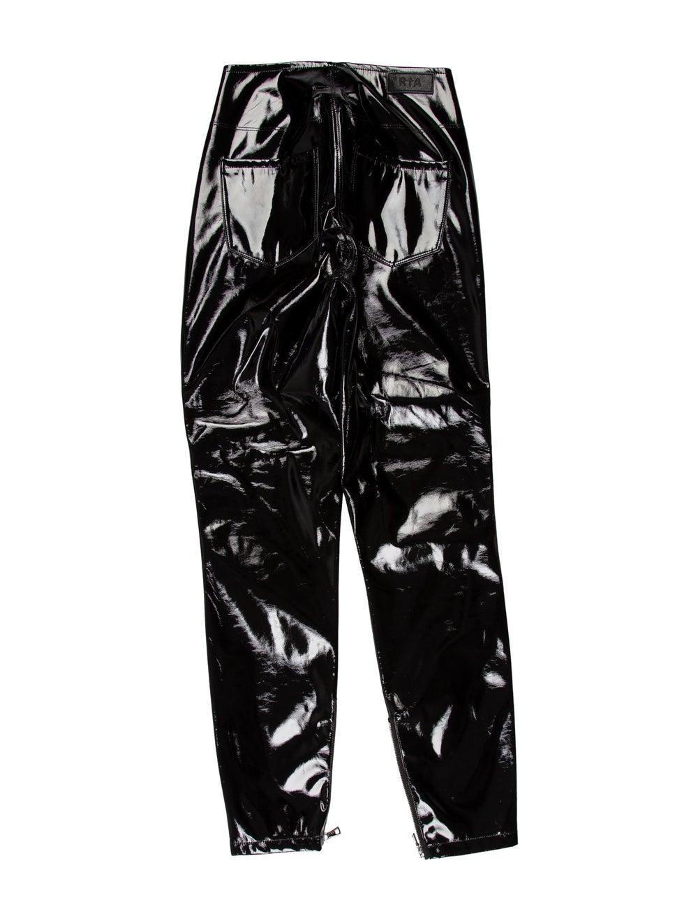 RtA Denim Mid-Rise Vinyl Pants Black - image 2