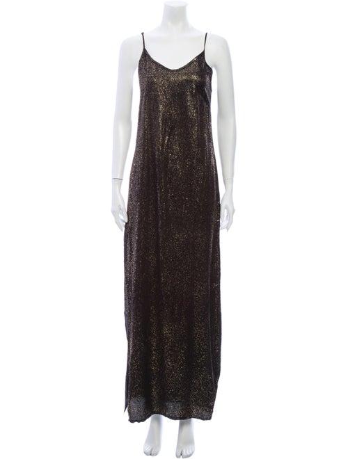 RtA Denim Silk Long Dress Denim