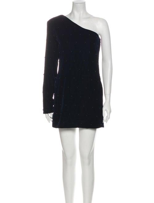 RtA Denim One-Shoulder Mini Dress Denim