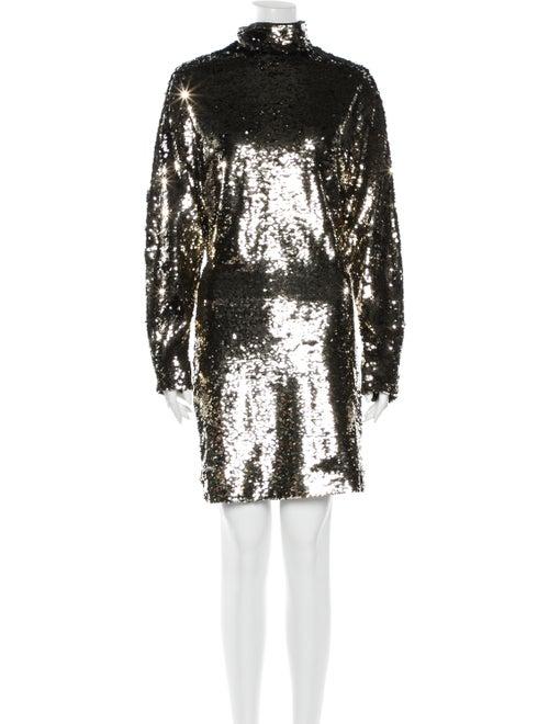 RtA Denim Turtleneck Mini Dress Denim