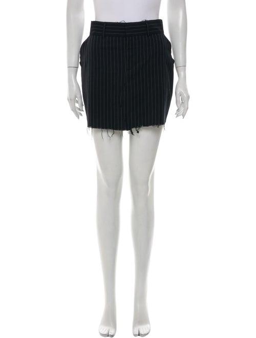 RtA Denim Striped Mini Skirt Denim