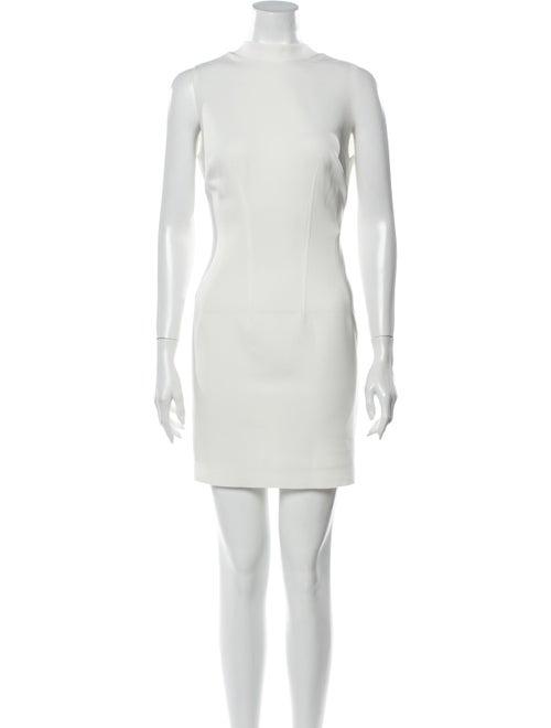 RtA Denim Mock Neck Mini Dress Denim