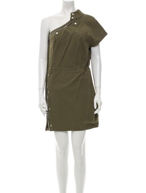 RtA Denim One-Shoulder Mini Dress w/ Tags Denim