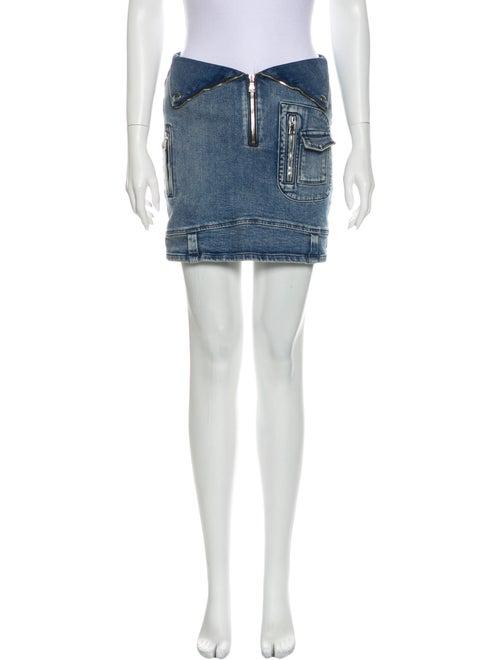 RtA Denim Mini Skirt Denim