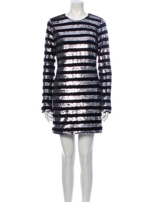 RtA Denim Striped Mini Dress Denim
