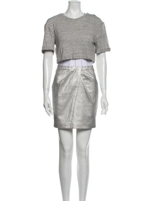 RtA Denim Crew Neck Mini Dress Denim