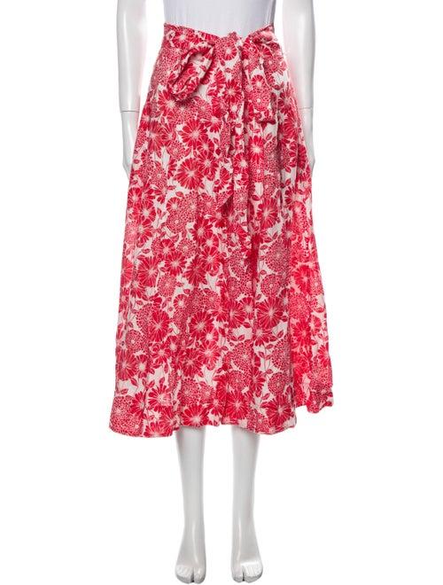 Lisa Marie Fernandez Linen Midi Length Skirt w/ Ta