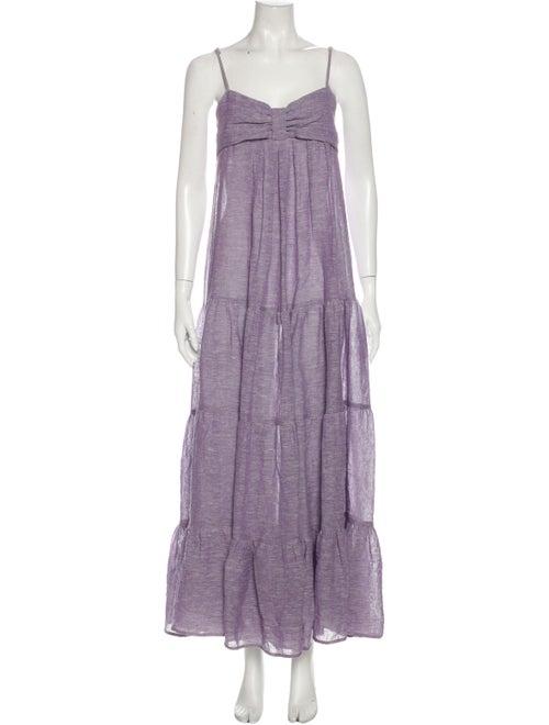 Lisa Marie Fernandez Linen Long Dress Purple - image 1