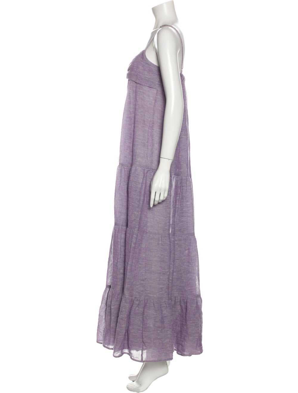 Lisa Marie Fernandez Linen Long Dress Purple - image 2