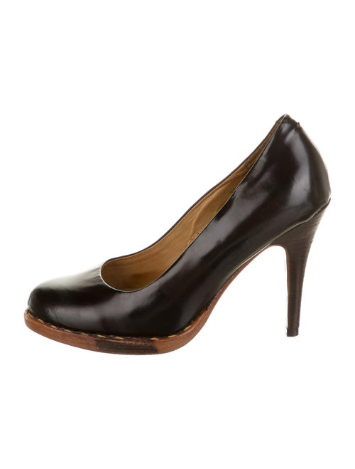 The Office of Angela Scott Leather Pumps Black
