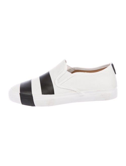 The Office of Angela Scott Striped Sneakers White