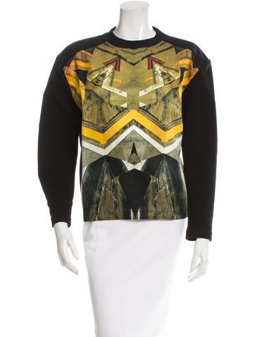 Risto Graphic Rib Knit-Trimmed Sweatshirt None