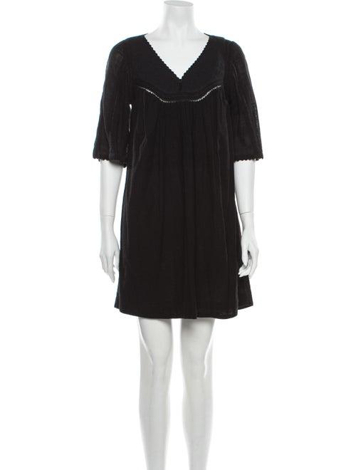 Masscob Silk Mini Dress Black