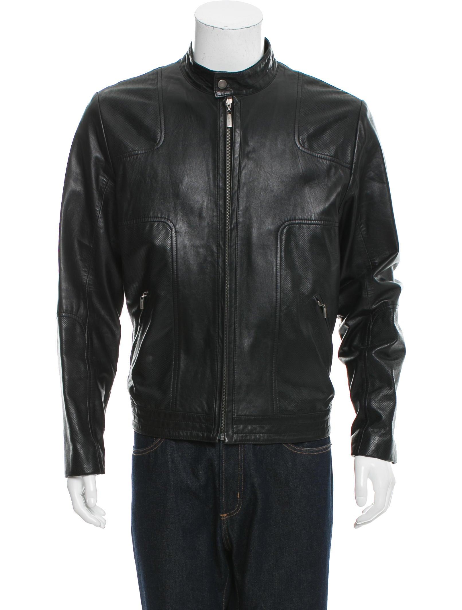 Cole haan leather jacket men