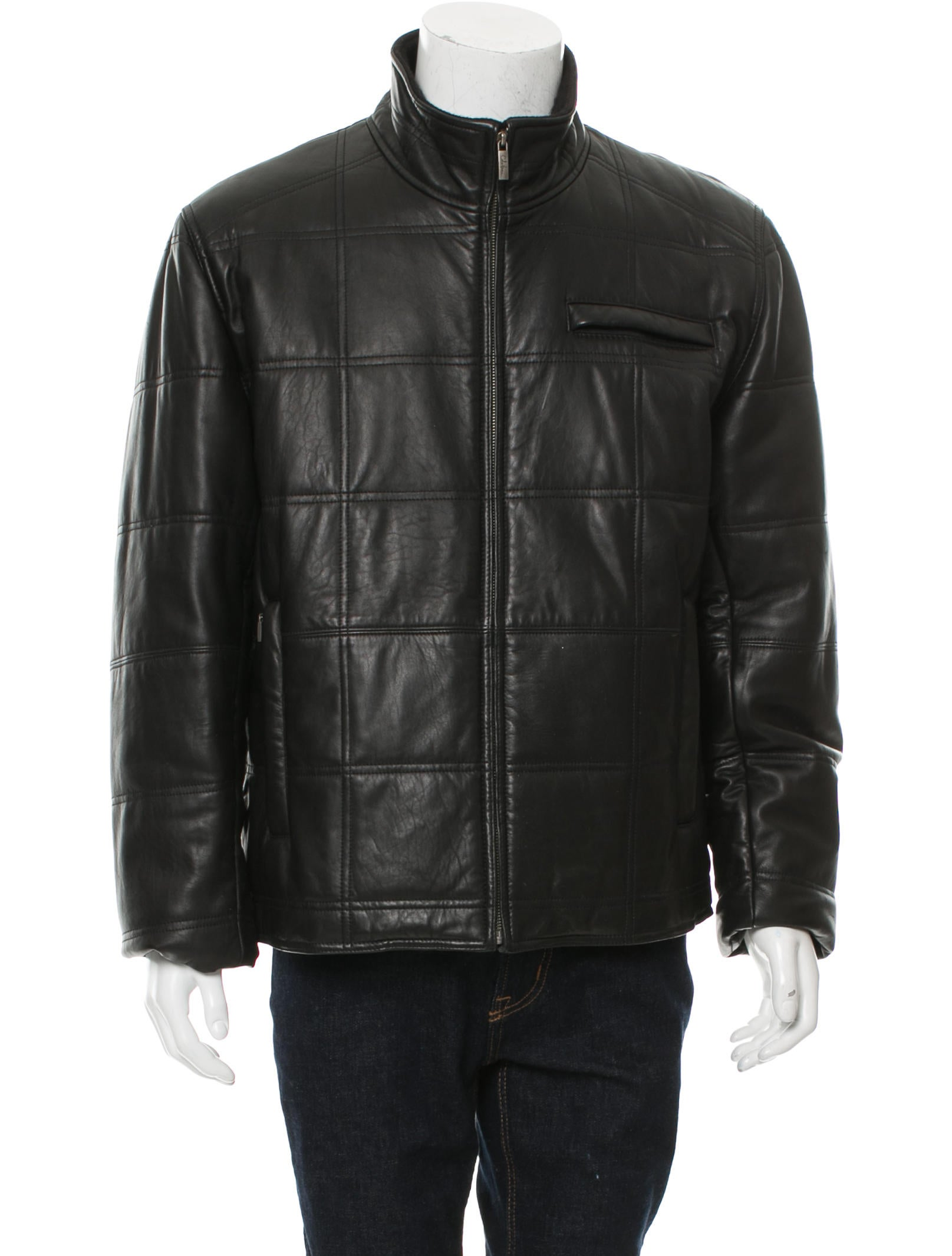 Cole Haan Quilted Leather Jacket Clothing W4920813 The Realreal