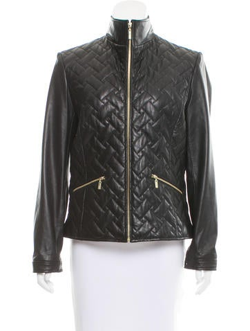 Cole Haan Quilted Leather Jacket Clothing W4920948 The Realreal