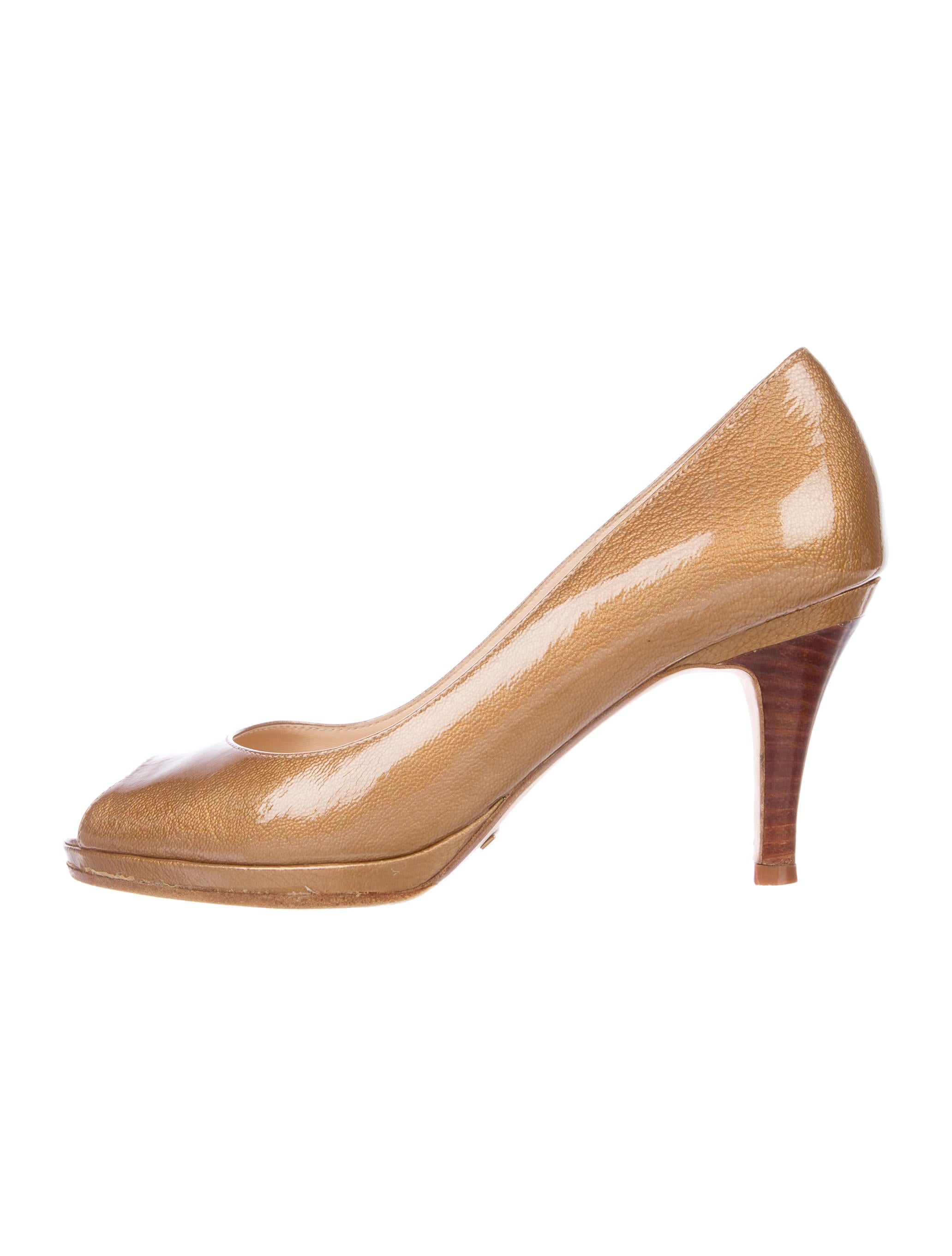 cheap choice outlet store for sale Cole Haan Metallic Peep-Toe Pumps free shipping pay with paypal best prices cheap online cheap sale newest GScHulGBb8