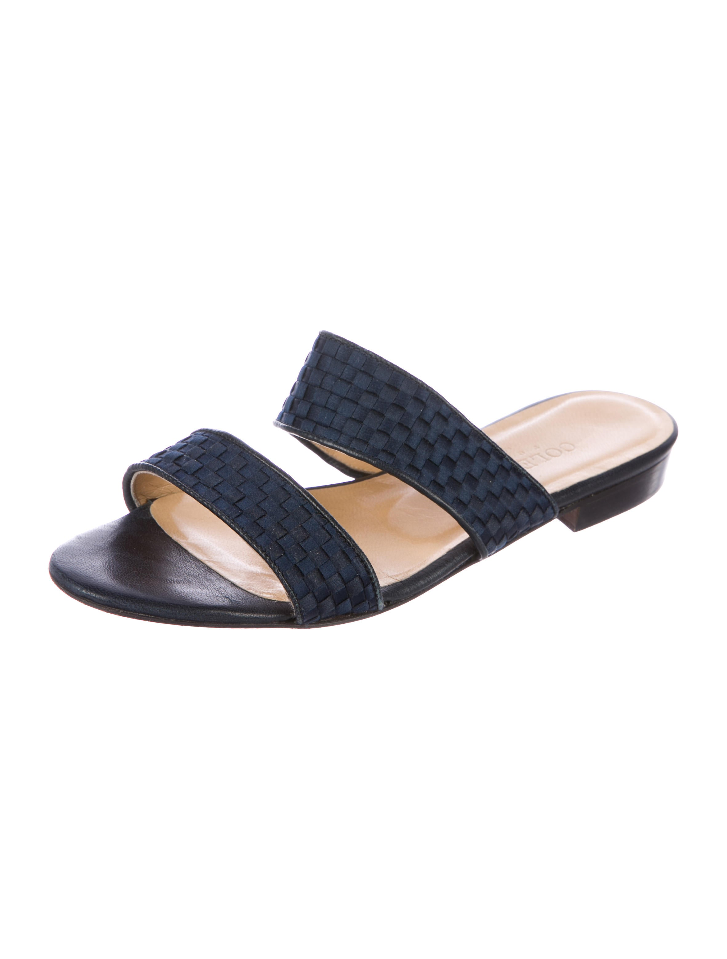 Cole Haan Woven Satin Slide Sandals outlet 100% original e9hrmc