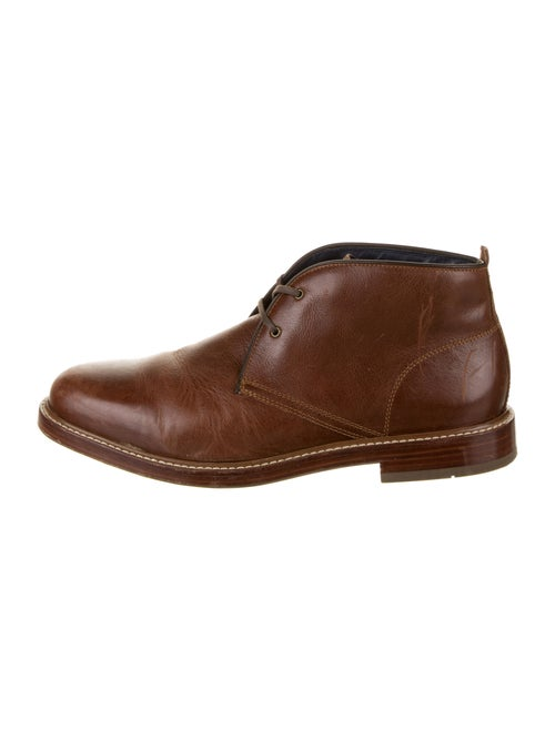 Cole Haan Leather Lace-Up Boots Brown