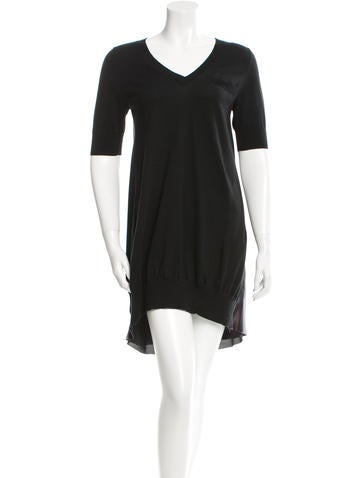 Ruffle-Accented Mini Dress None