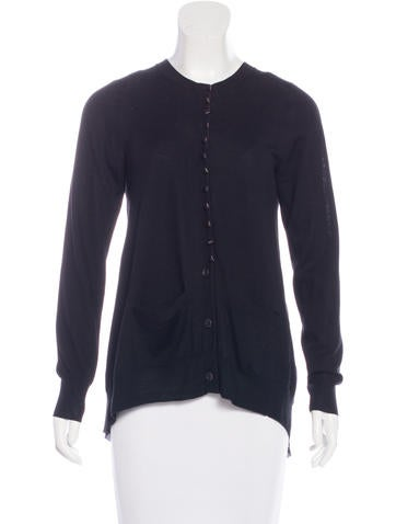 Sacai Luck Pleated Wool Cardigan None