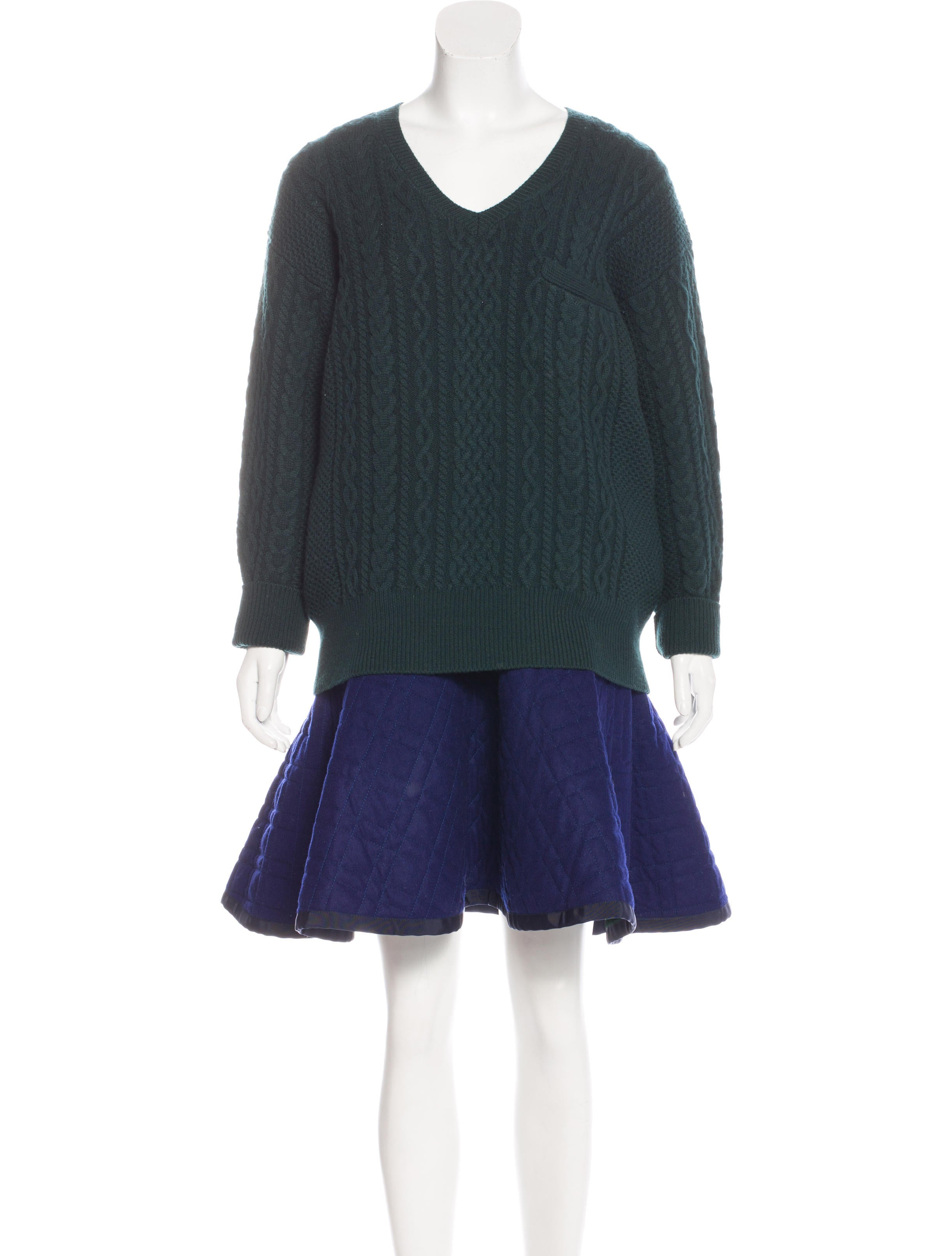 Sacai Luck Wool Sweater Dress - Clothing - W4H20627 | The RealReal