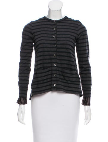 Sacai Luck Pleat-Accented Cardigan None
