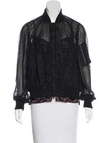 Sacai Luck Embellished Bomber Jacket w/ Tags None