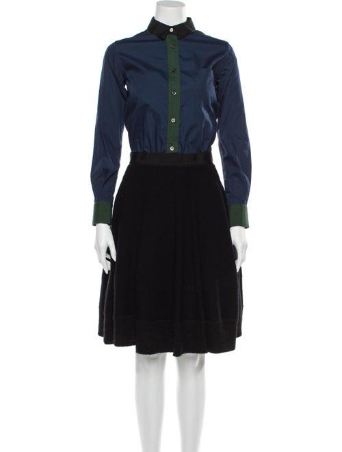 Sacai Luck Midi Length Dress Black