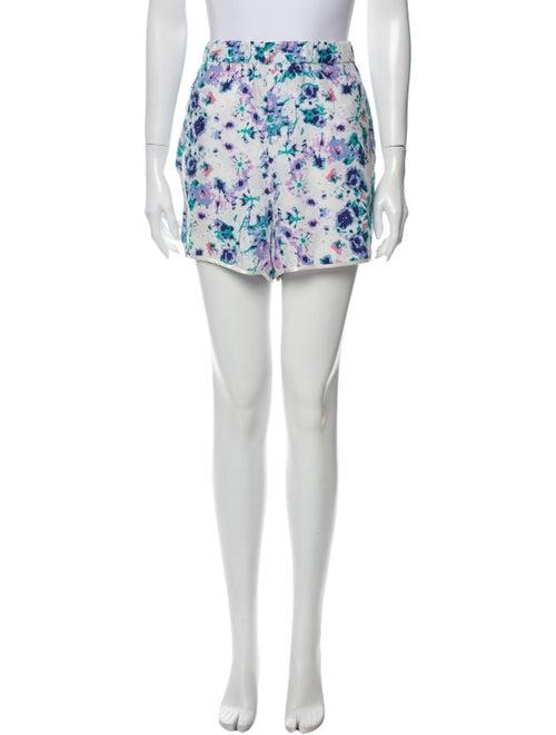 Piamita Silk Mini Shorts White
