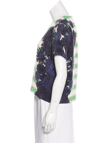 Floral Print Silk Top