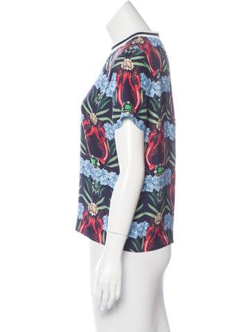 Mixed Print Silk Top