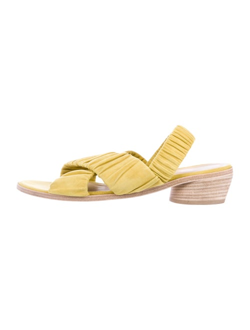 LD Tuttle Suede Slingback Sandals Yellow