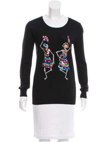 Markus Lupfer Embellished Wool Sweater None
