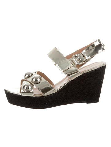 Markus Lupfer Metallic Glitter Wedge Sandals w/ Tags None