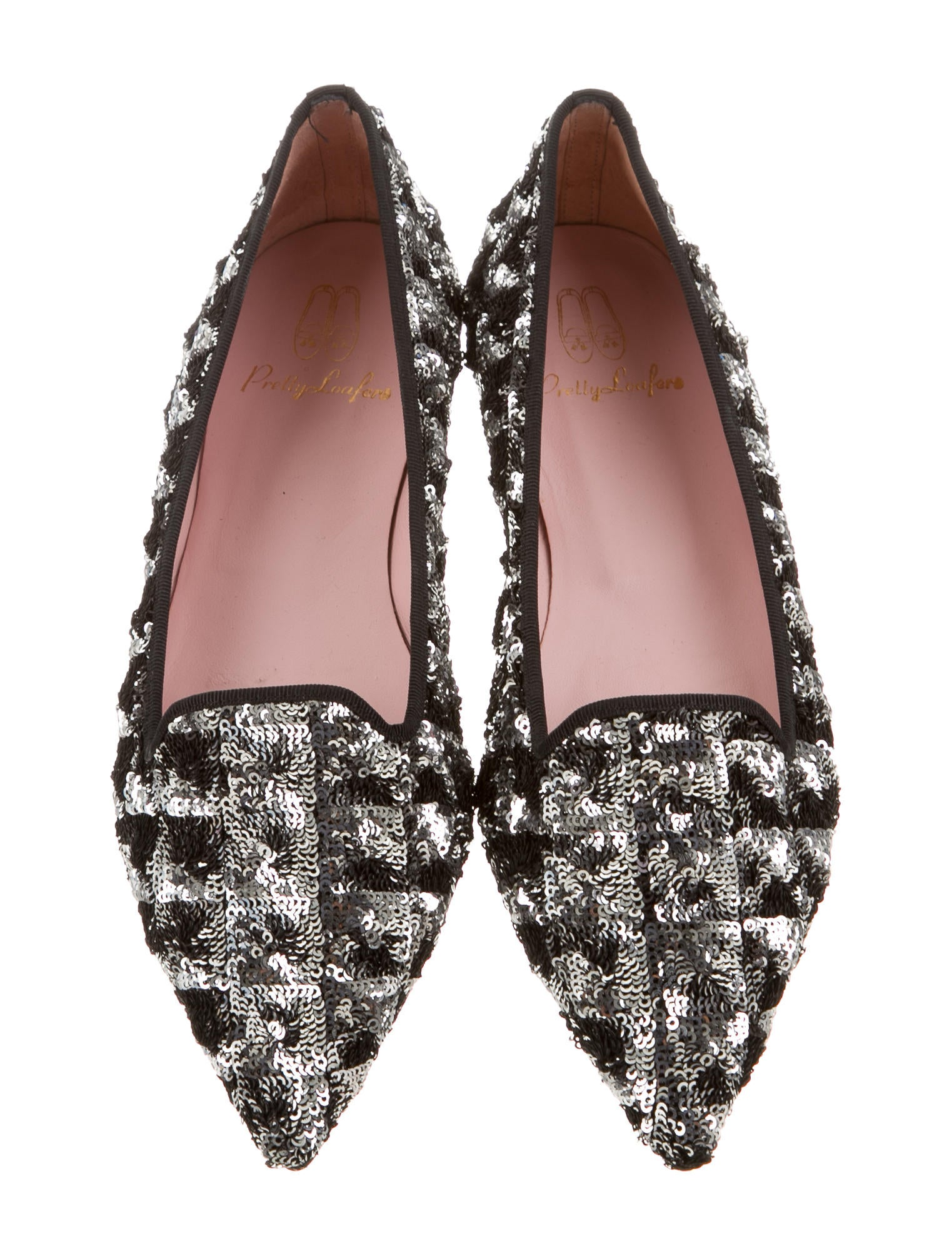 pretty ballerinas sequined pretty loafers shoes w4p20015 the realreal. Black Bedroom Furniture Sets. Home Design Ideas
