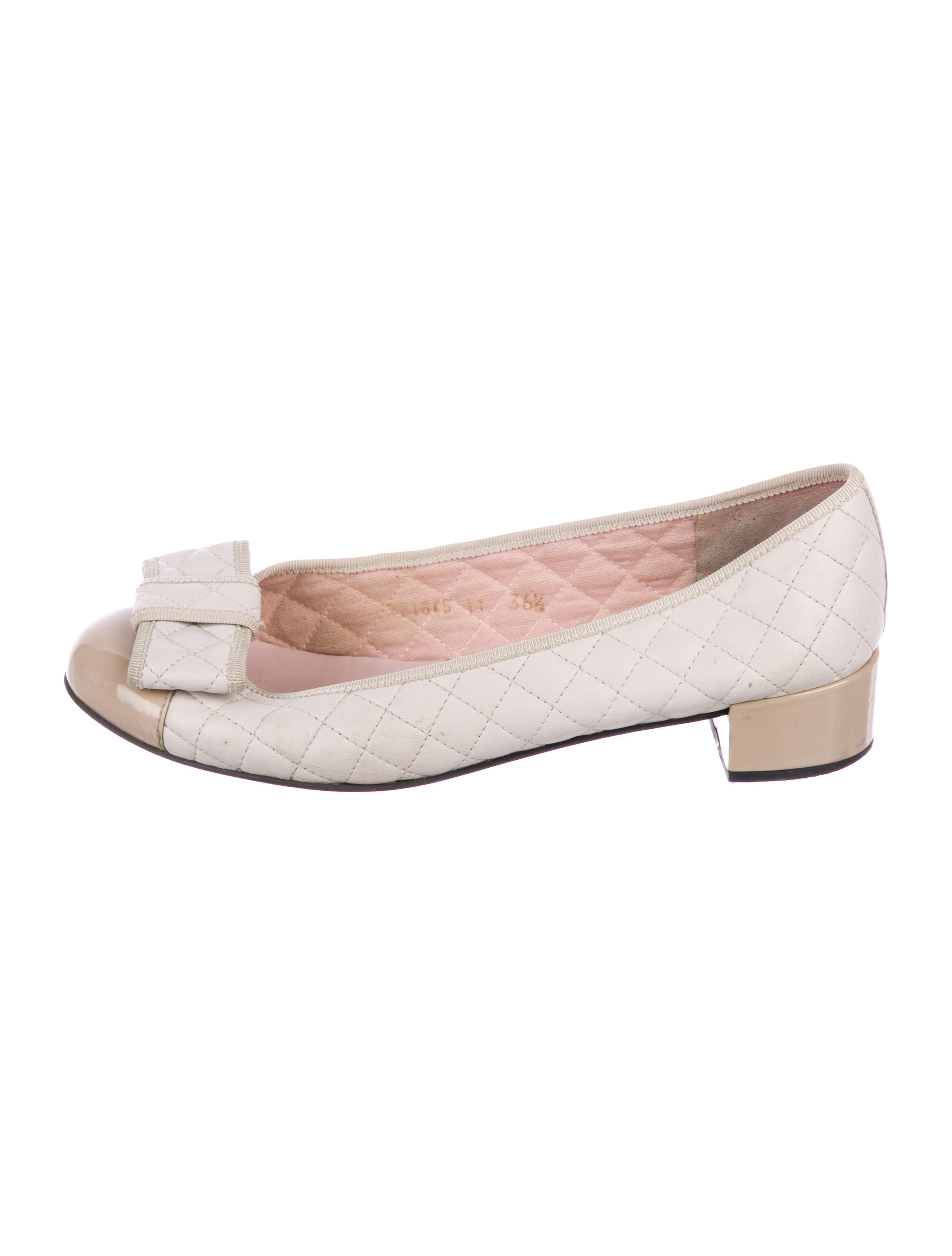 2014 unisex online Pretty Ballerinas Quilted Bow Pumps outlet low price fee shipping for sale cheap real sast cheap price 8i1cqXCNA