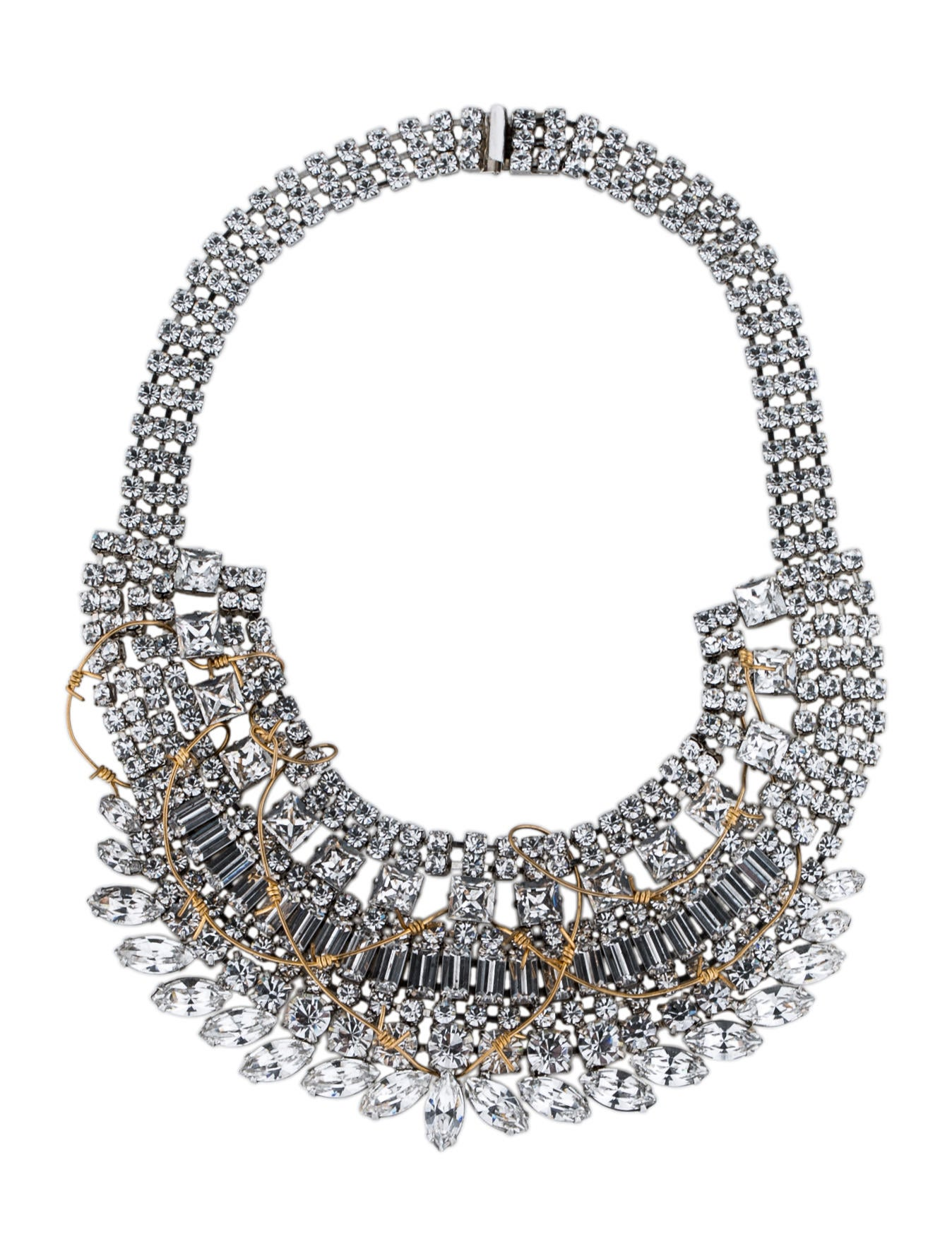 Tom Binns Crystal and Barbed Wire Collar Necklace - Necklaces ...