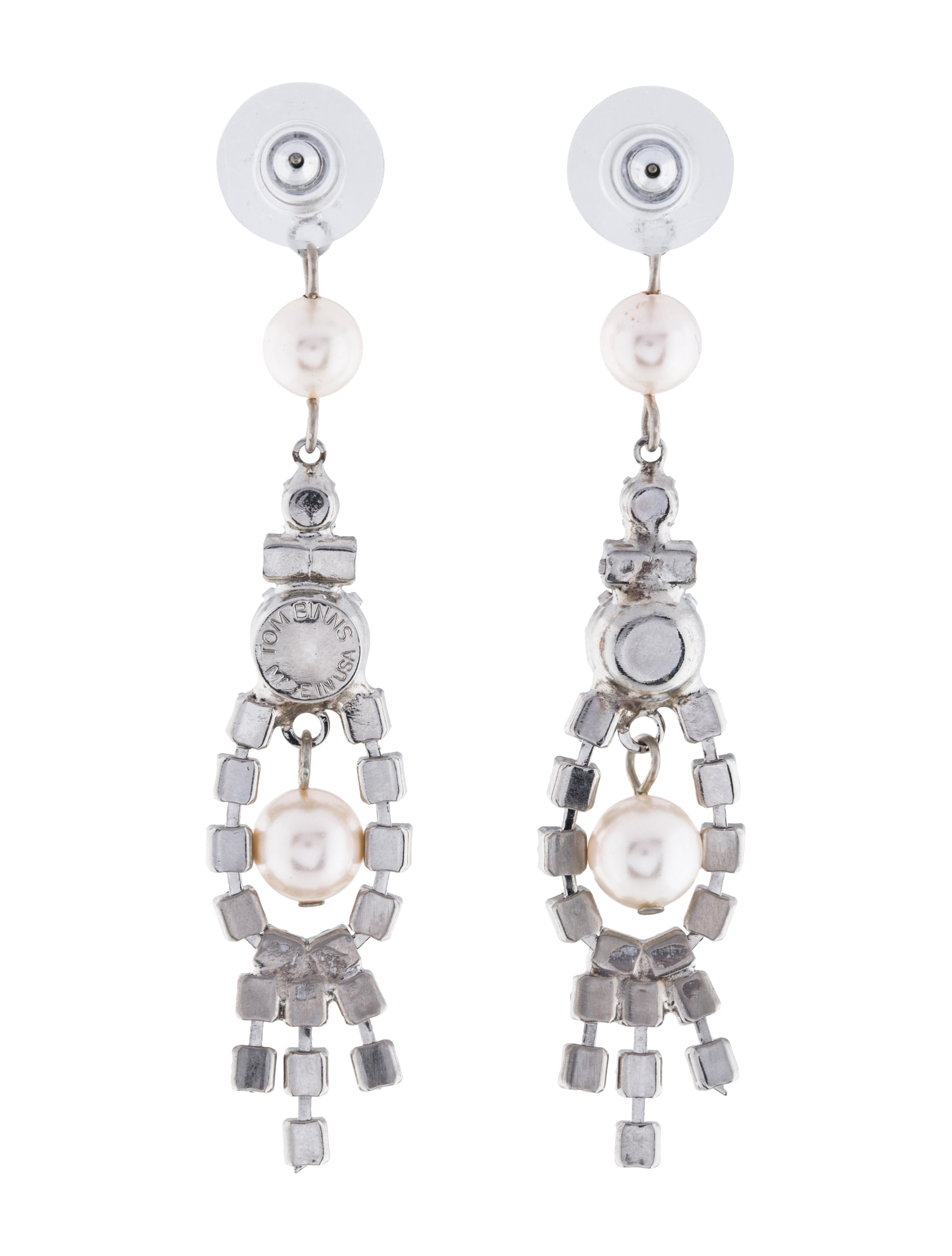 Tom binns crystal faux pearl chandelier earrings earrings crystal faux pearl chandelier earrings arubaitofo Image collections