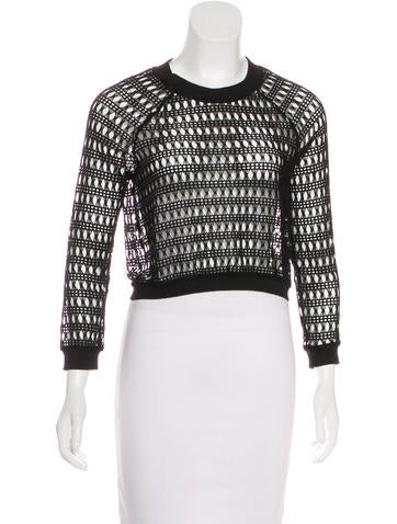 Viva Vena by Vena Cava Cropped Open Knit Sweater None