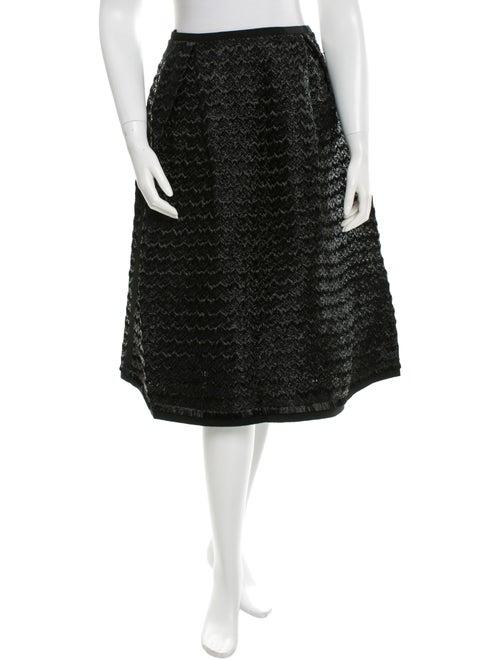 Tia Cibani Raffia A-Line Skirt Black