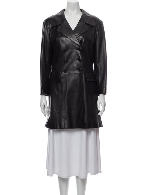 Agnes B. Leather Evening Jacket Black