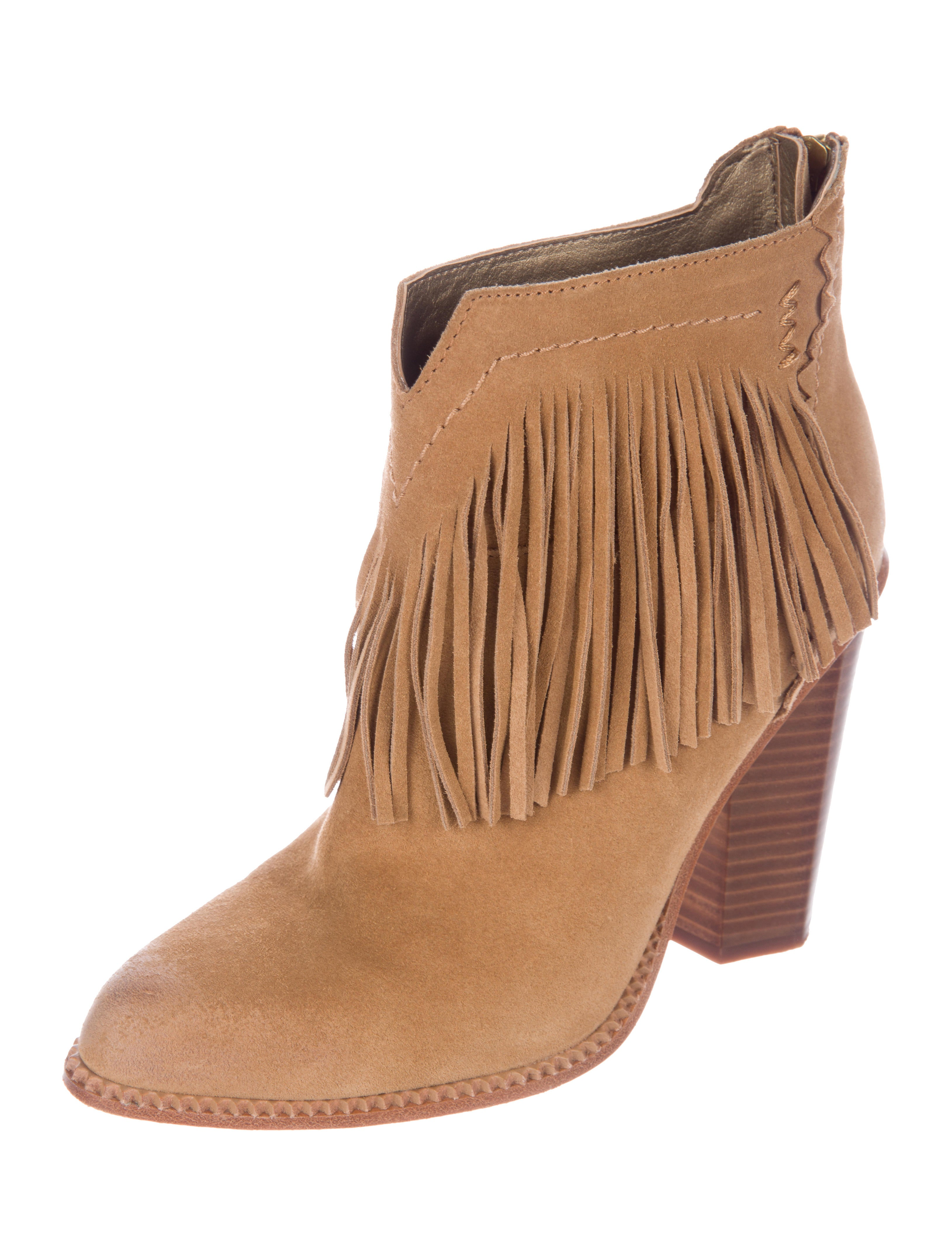 Inexpensive sale hot sale Cynthia Vincent Fringe Ankle Boots buy cheap clearance cheap online rYNsvi