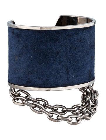 Suede Chain Cuff