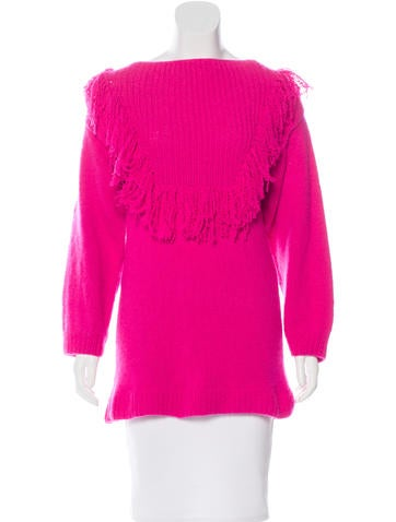 Ryan Roche Fringe-Accented Cashmere Sweater None