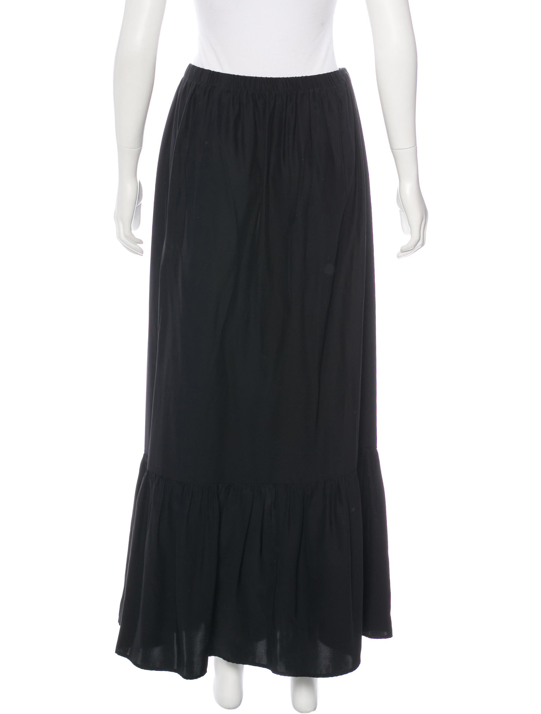 roche silk midi skirt clothing w5i20200 the