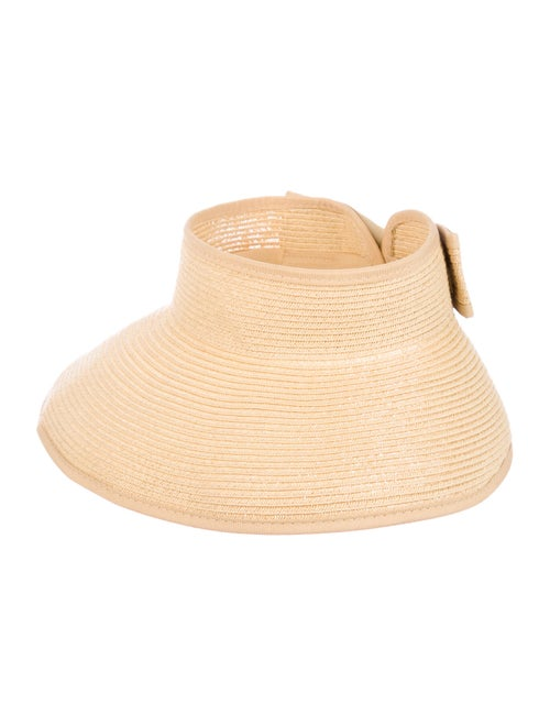 Ryan Roche Wide-Brim Straw Hat Tan