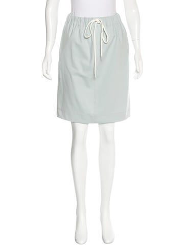Bassike Drawstring Knee-Length Skirt